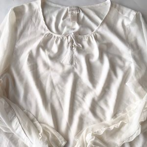 Chico's white blouse flowy top size 1
